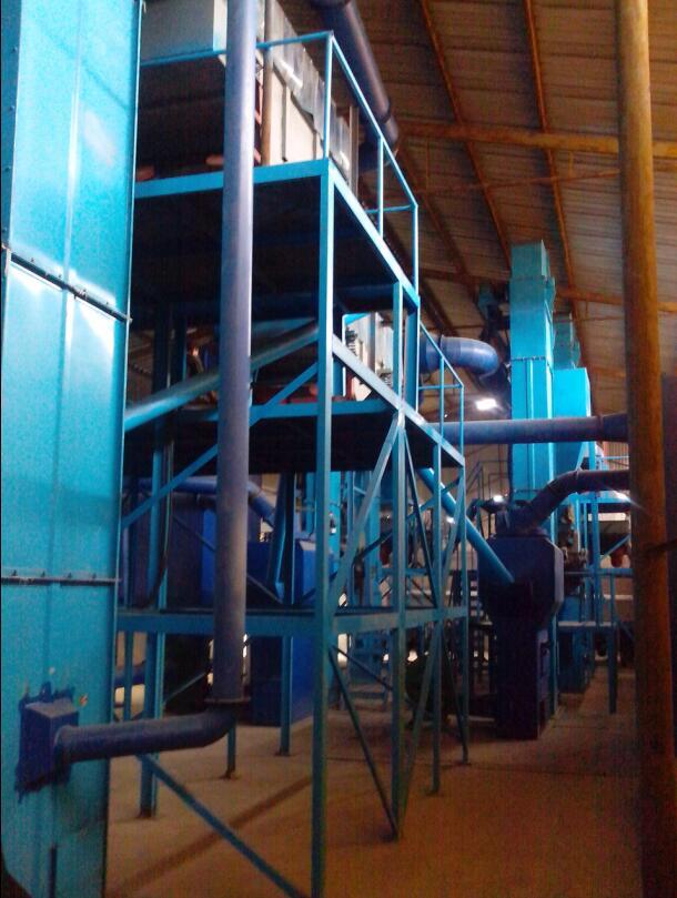 单班年产5000吨黑碳化硅粒度砂清吹制粒生产线