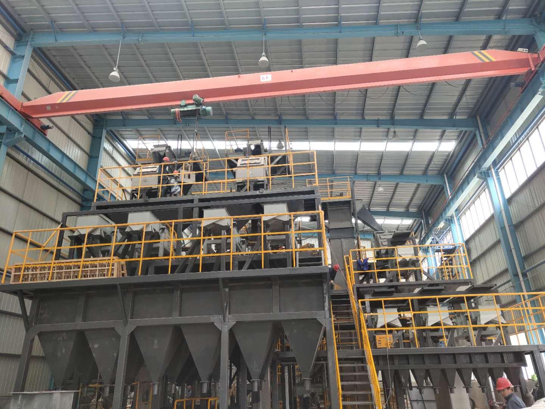 年产2万吨白刚玉粒度砂清吹制粒生产线