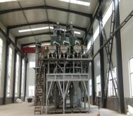 年产5万白刚玉段砂清吹制粒生产线